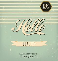 Vintage design template vector