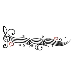 Music notes clef vector