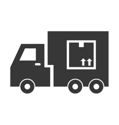 Truck icon delivery and shipping design vector