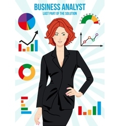Beautiful business analyst woman vector image vector image