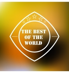 best five-star logo icon vector image