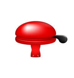 bicycle bell in red design vector image vector image
