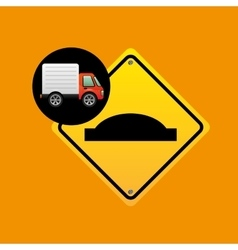 bump traffic sign concept vector image