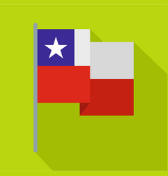 Chile flag icon flat style vector