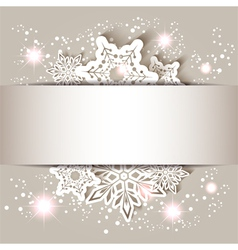 Christmas Star Snowflake Greeting Card vector image