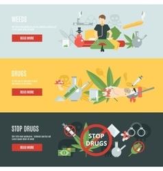 Drugs banner set vector