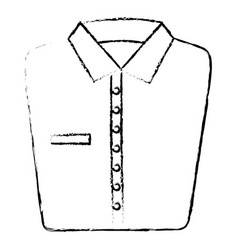 folded elegant shirt icon vector image