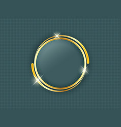 Gold ring with space for text in the middle of a vector image