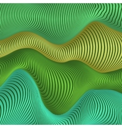 Green and blue colors wavy stripes abstract vector