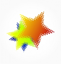 halftone stars vector image