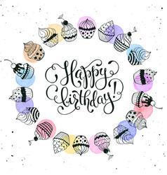 happy birthday card vector image vector image