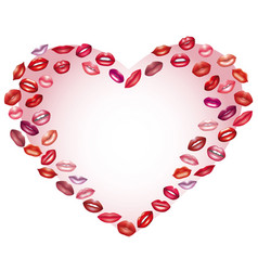 heart of kisses design element on the day of vector image