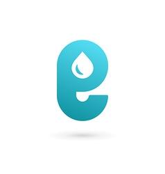 Letter e water drop logo icon design template vector
