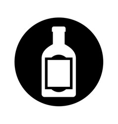 Mexican tequila bottle isolated icon vector