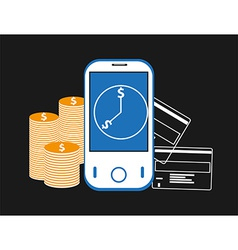 Mobile banking background vector image vector image