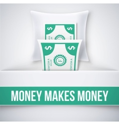 Money makes money vector