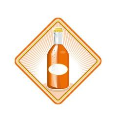 orange soda bottle sunburst retro vector image vector image