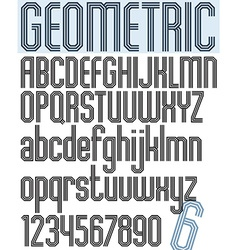 Poster black geometric stylish ink font and vector