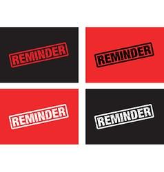 reminder vector image