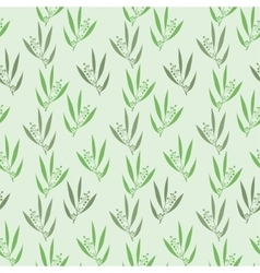Seamless pattern branches of eucalyptus vector image