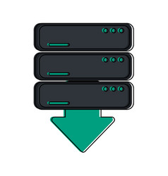 servers download web hosting icon image vector image vector image