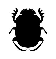 Silhouette scarab silhouette geotrupidae dor vector
