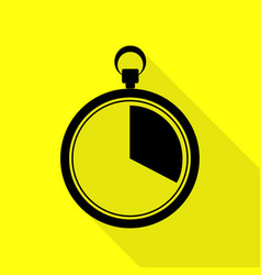 The 20 seconds minutes stopwatch sign black icon vector