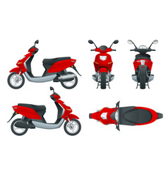 Trendy electric scooter isolated on white vector