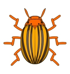 Colorado potato beetle icon cartoon style vector