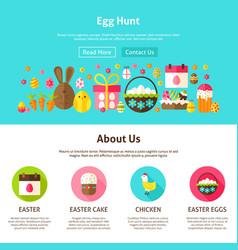 Web design egg hunt vector