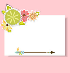 Template for postcardinvitationcard vector