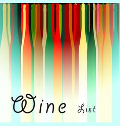 Menu card wine vector