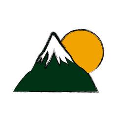 mount fuji sun japan landscape natural image vector image