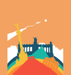Travel mexico world landmark landscape vector