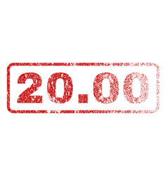 2000 rubber stamp vector image