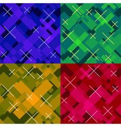 colorful seamless cross pattern vector image