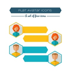 Flat Avatar Banner vector image