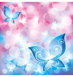 Mystical butterflies vector