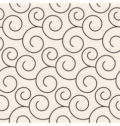 Floral ornate stripped seamless pattern vector