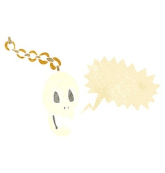 Cartoon chain with speech bubble vector