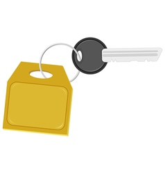 key with a label on the ring vector image