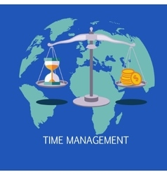 Time management concept art vector