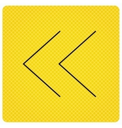 Back arrow icon previous sign vector