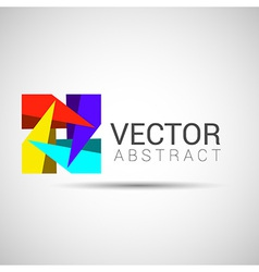 Abstract Logo template set Icons for any type of vector image vector image