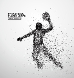 Basketball player leaps vector