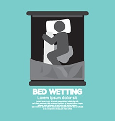 Bed-Wetting Black Graphic Symbol vector image vector image