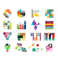 collection of trendy colorful infographic diagram vector image vector image