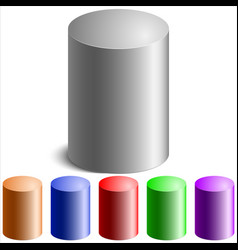 colored cylinders vector image vector image