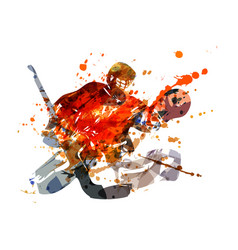 colorful hockey goalie vector image