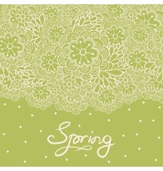 Cute floral romantic card vector image vector image